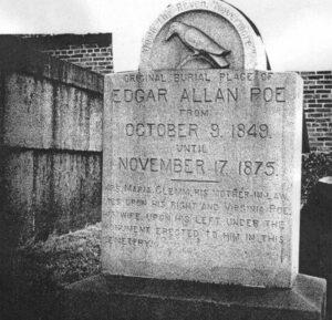 La prima tomba di Edgar Allan Poe